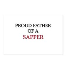 Proud Father Of A SAPPER Postcards (Package of 8)