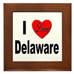 I Love Delaware Framed Tile