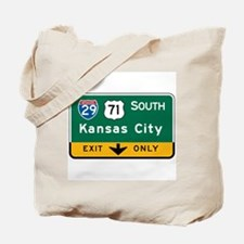 Kansas City, MO Highway Sign Tote Bag