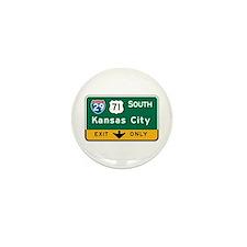 Kansas City, MO Highway Sign Mini Button (10 pack)