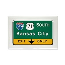 Kansas City, MO Highway Sign Rectangle Magnet