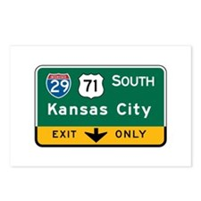 Kansas City, MO Highway Sign Postcards (Package of