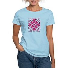 Hearts Hawaiian Quilt T-Shirt