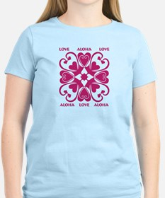Hearts Hawaiian Quilt T-Shirt