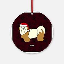 Santa Shih Tzu Ornament