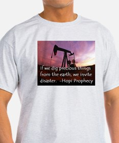 Hopi Prophecy - ANWR Ash Grey T-Shirt