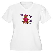 Fhelzgud Valentine BearWomen's + Sz V-Neck T-Shirt