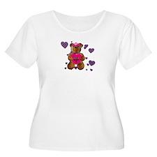 Fhelzgud Valentine Bear W + Sz Scoop Neck T-Shirt