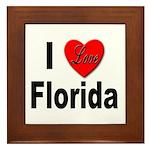 I Love Florida Framed Tile