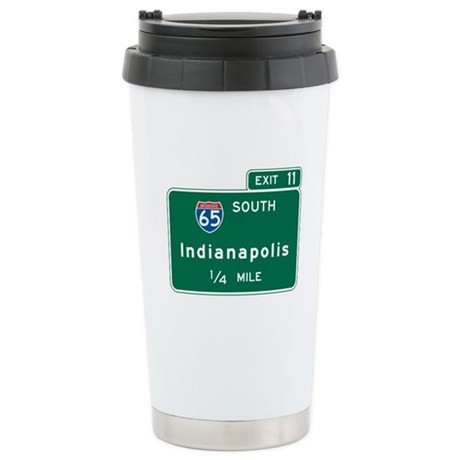Indianapolis, IN Highway Sign Stainless Steel Trav