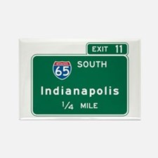 Indianapolis, IN Highway Sign Rectangle Magnet