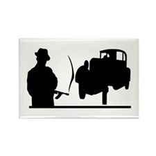 Cute Roaring 20's Rectangle Magnet (10 pack)