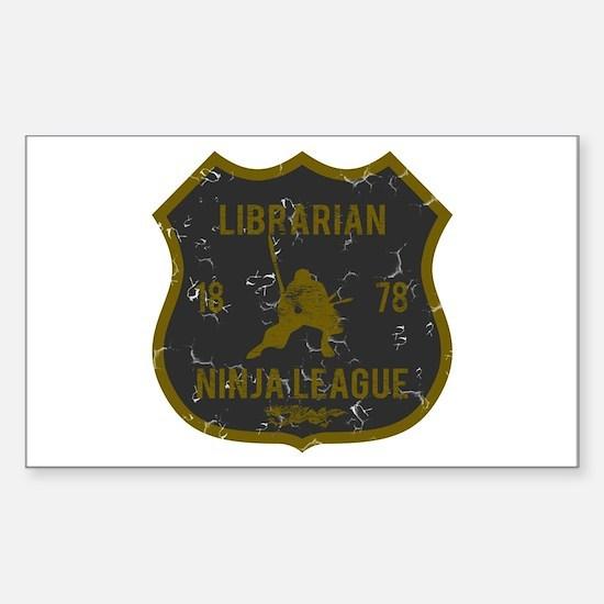 Librarian Ninja League Rectangle Decal