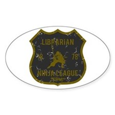 Librarian Ninja League Oval Decal