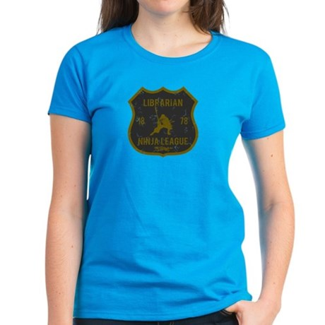 Librarian Ninja League Women's Dark T-Shirt