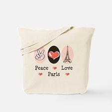 Peace Love Paris Tote Bag