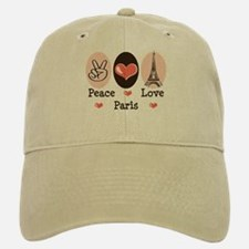 Peace Love Paris Baseball Baseball Cap