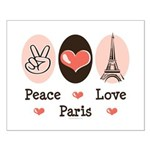 Peace Love Paris Small Poster
