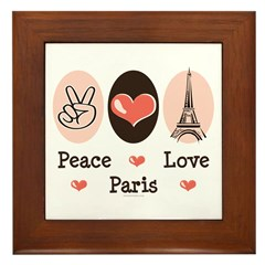 Peace Love Paris Framed Tile