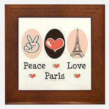 Peace Love Paris Framed Tile