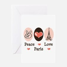 Peace Love Paris Greeting Card