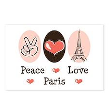 Peace Love Paris Postcards (Package of 8)