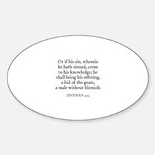 LEVITICUS 4:23 Oval Decal