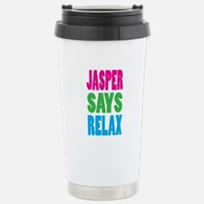 Jasper Says Relax (Color) Travel Mug