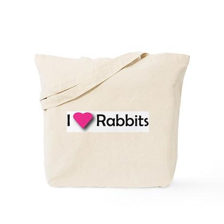 I LUV RABBITS! Tote Bag