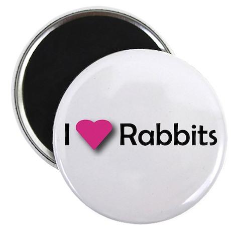 "I LUV RABBITS! 2.25"" Magnet (10 pack)"