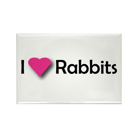 I LUV RABBITS! Rectangle Magnet (100 pack)