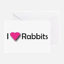 I LUV RABBITS! Greeting Cards (Pk of 10)