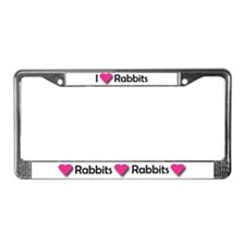 I LUV RABBITS! License Plate Frame