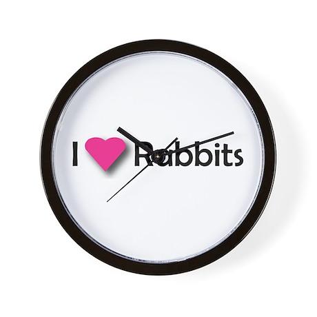 I LUV RABBITS! Wall Clock
