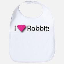 I LUV RABBITS! Bib
