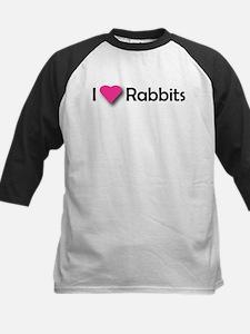 I LUV RABBITS! Kids Baseball Jersey