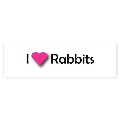 I LUV RABBITS! Bumper Sticker
