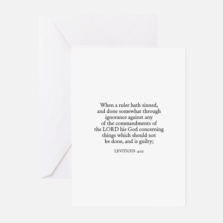 LEVITICUS  4:22 Greeting Cards (Pk of 10)