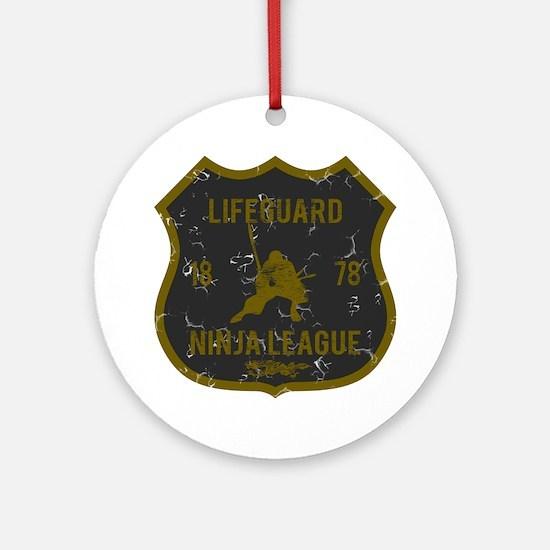 Lifeguard Ninja League Ornament (Round)