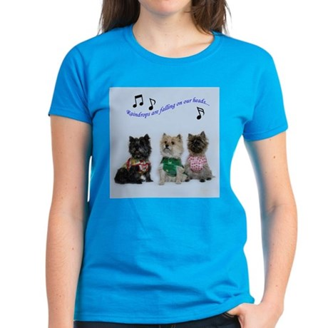 Rainy Day Cairn Terrier Women's Dark T-Shirt