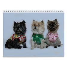 Cairn Terriers in the Rain Wall Calendar