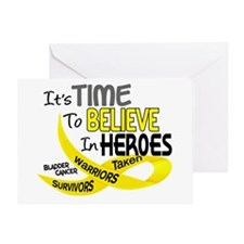 Time To Believe BLADDER CANCER Greeting Card
