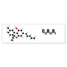 THC Molecule Bumper Bumper Sticker