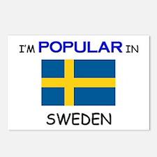 I'm Popular In SWEDEN Postcards (Package of 8)