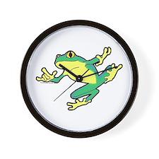 ASL Frog in Flight Wall Clock