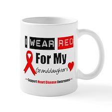 I Wear Red Granddaughter Mug