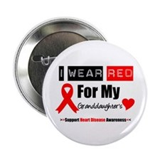 "I Wear Red Granddaughter 2.25"" Button"