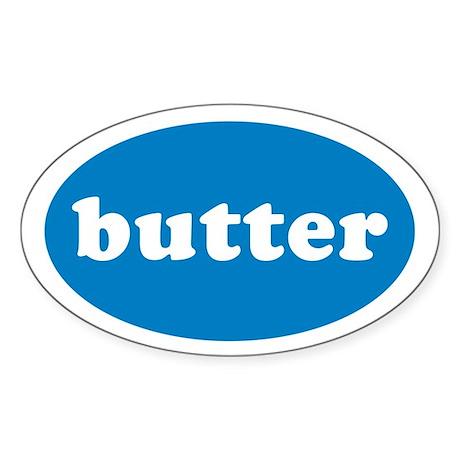 Butter Oval Sticker