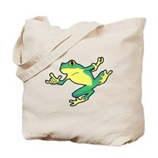 ASL Frog in Flight Tote Bag