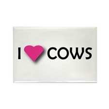 I LUV COWS! Rectangle Magnet (100 pack)
